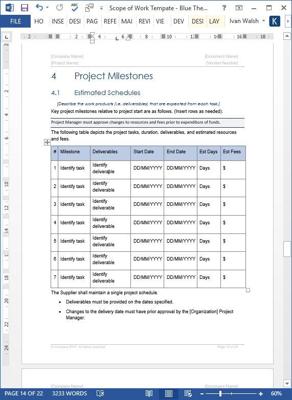 scope of work template  ms word  excel   u2013 templates  forms
