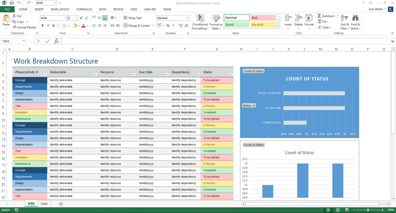 excel templates free download - verification and validation plan download ms word template