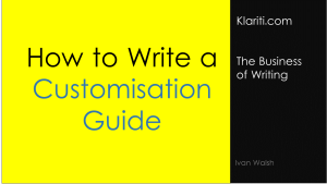 [How to] Write a Customization Guide