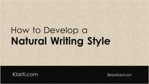 How to Develop a Natural 'Business' Writing Style