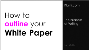 White Papers: How to Create an Outline