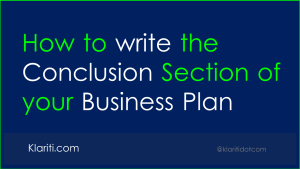 How to write the Conclusion of your Business Plan
