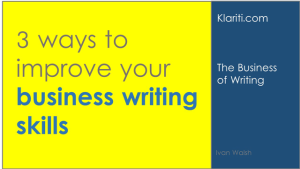 How can I improve my business writing skills?