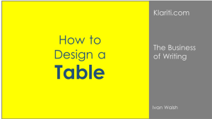 How to Design a Table Layout