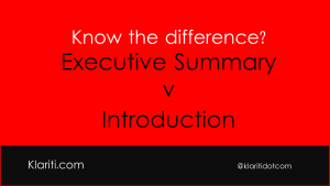 How to Write an Executive Summary for Business Plans