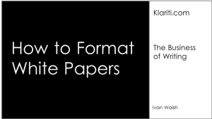 [Tutorial] White Papers: 14 Writing Guidelines