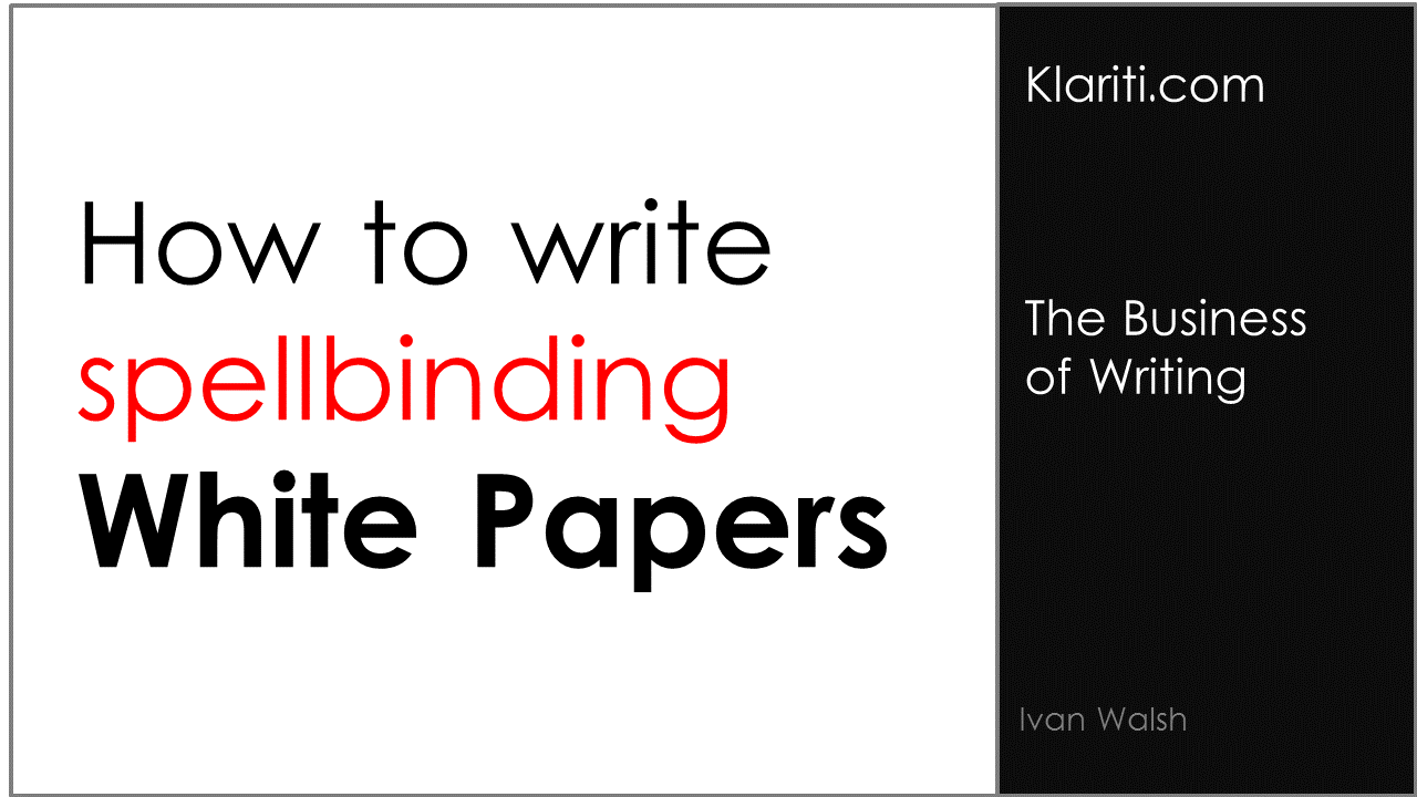 write white paper This document describes a general approach to writing white papers it answers questions like: • what is the objective of a white paper • how is it different from other documents with similar.