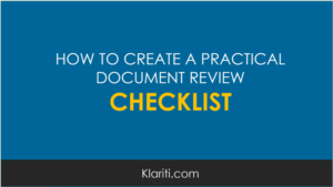 How to create a practical document review checklist