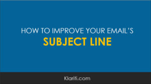 How to improve the subject line of an email
