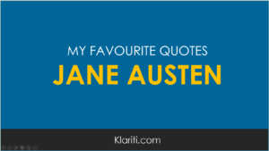 Jane Austen – My Favorite Quotes