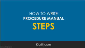 How to Write Steps for Procedure Manuals