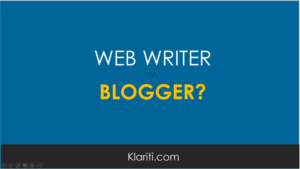 Are you a web writer or a blogger?