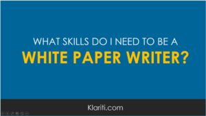 How can I break into freelance white paper writing?