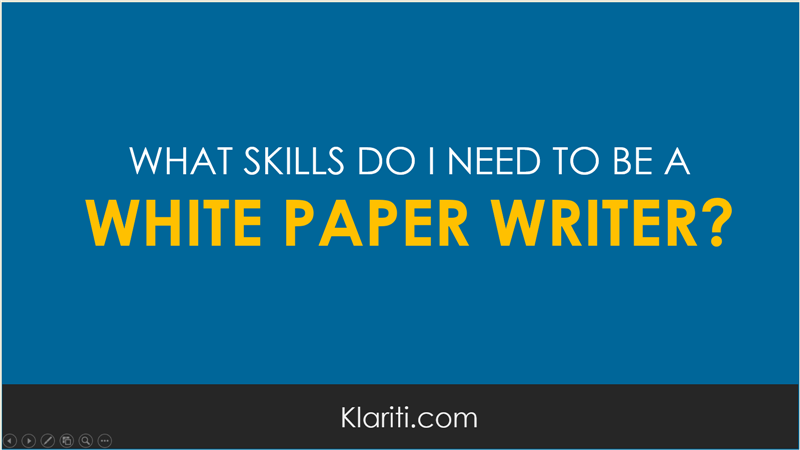 how can i break into lance white paper writing  white paper writer skills