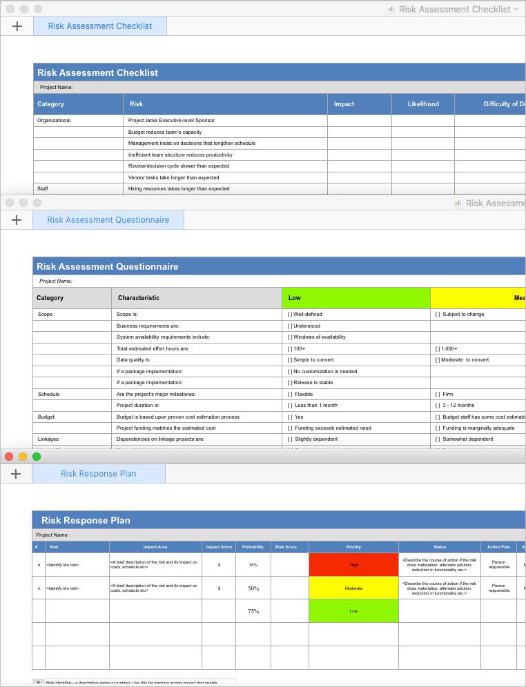 Apple pages and numbers templates for software developers for Risk mitigation report template