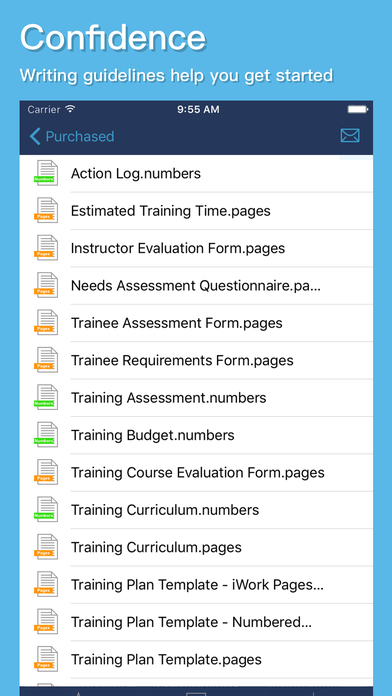 Apple Pages and Numbers Templates for Software Developers
