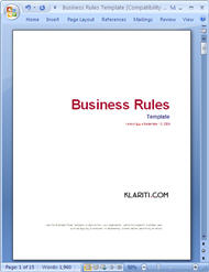 Business Rules Template