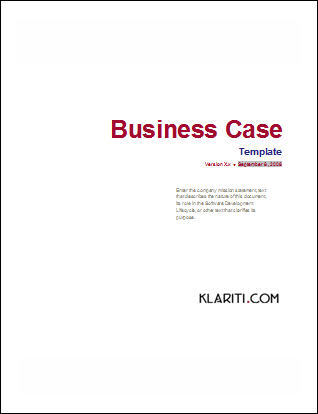 Business Case Template - MS Word