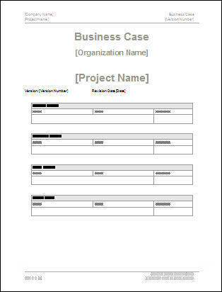 Business Case Template Downloads