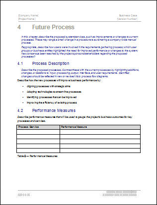 Business Case Template - Future Process