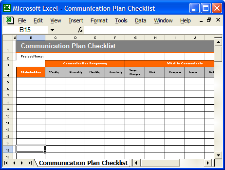 Communication Plan Template Ms Word Excel Templates