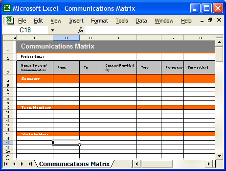 Communication plan template ms wordexcel templates forms communication schedule maxwellsz