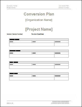 Conversion Plan Template