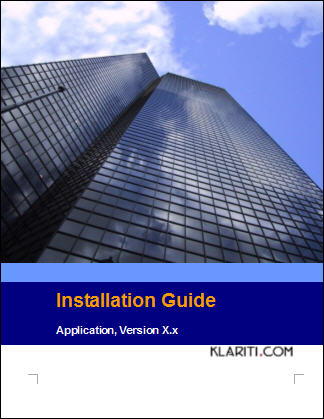 Installation Guide Template - Instant Download
