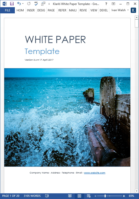 white paper word template
