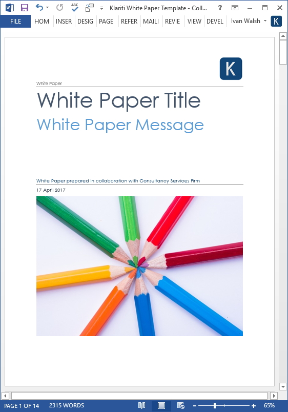 white papers  u2013 ms word templates  u0026 free tutorials