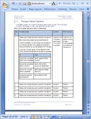 Business process design templates ms word excel visio examples fbccfo Choice Image