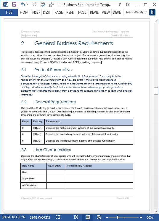 Business requirements specification template ms wordexcelvisio ms word template red theme cheaphphosting Gallery