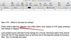 Mac v PC for writing?