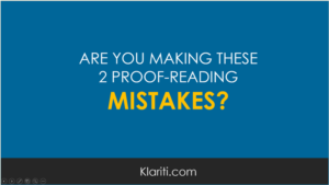Are you making these two proof-reading mistakes?