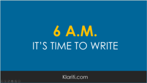How to write first thing in the morning