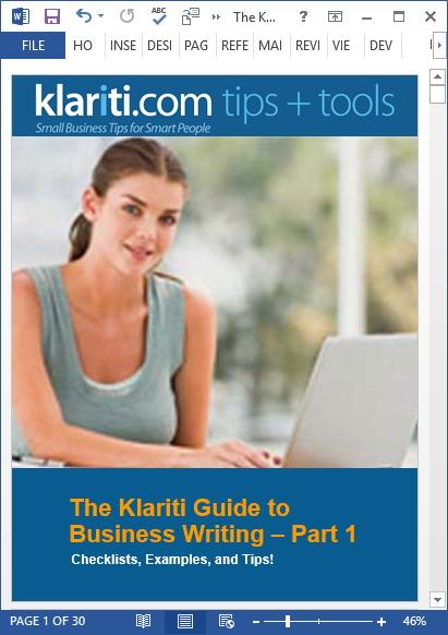 klariti business writing guide